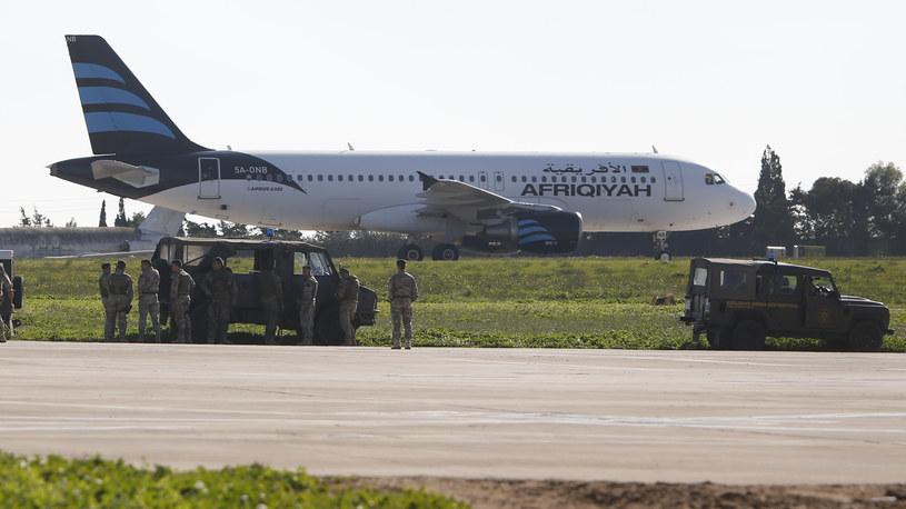 Porwany samolot /Agencja FORUM