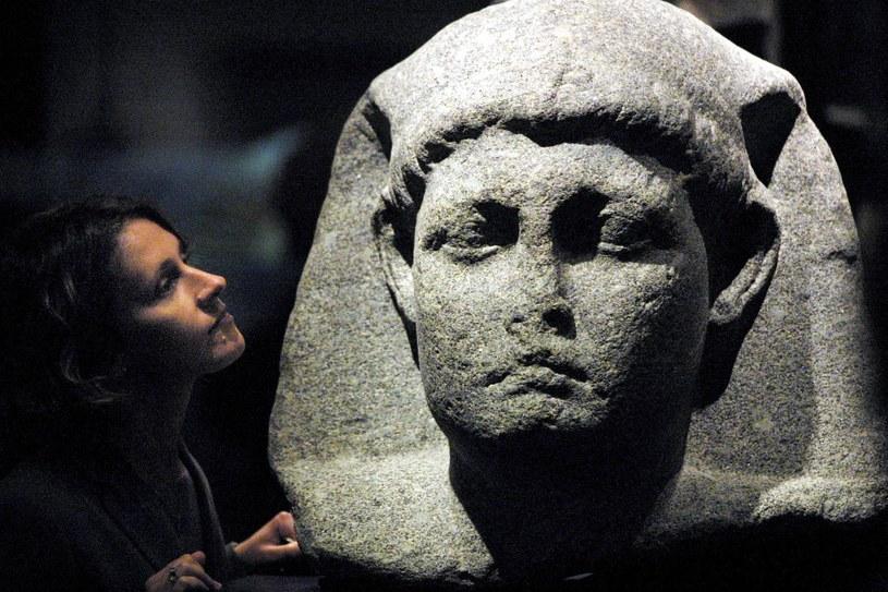 Posąg Kleopatry w muzeum w Londynie /AFP