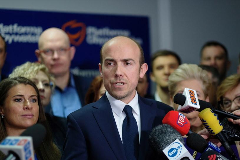 Poseł KO Borys Budka podczas konferencji prasowej w Katowicach (26.01.2020) / Andrzej Grygiel    /PAP