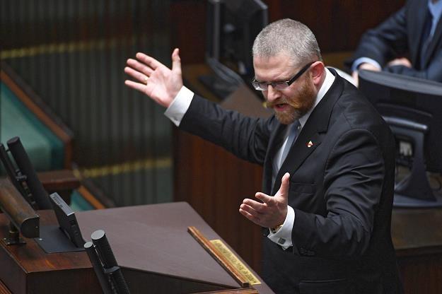 Poseł Konfederacji Grzegorz Braun /PAP