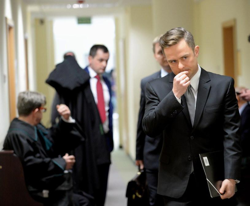 Poseł niezrzeszony, były rzecznik prasowy PiS Adam Hofman w Sądzie Okręgowym w Warszawie /Marcin Obara /PAP