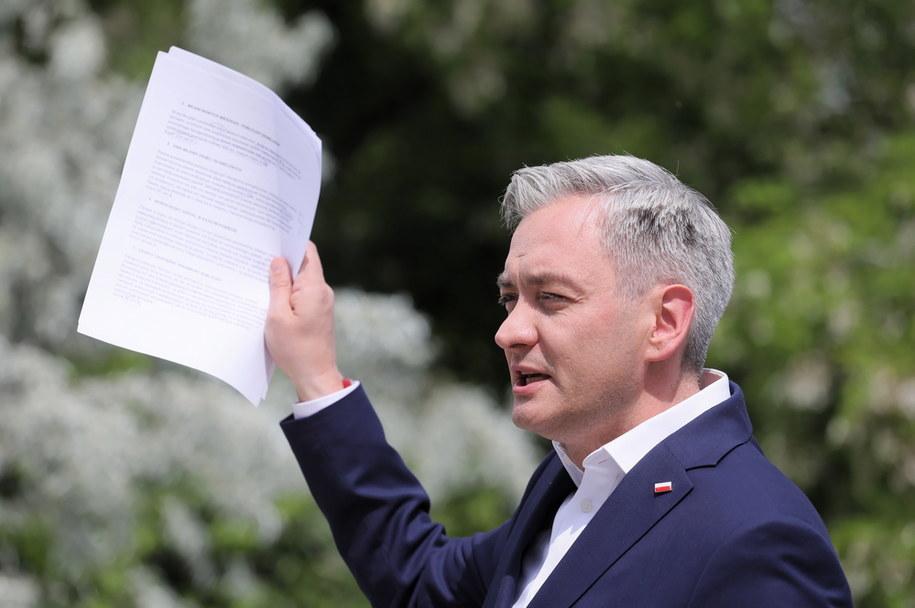 Poseł Parlamentu Europejskiego, kandydat Lewicy w wyborach prezydenckich Robert Biedroń /Paweł Supernak /PAP