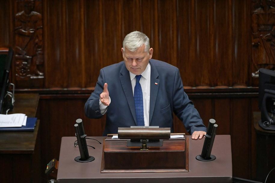 Poseł PiS Marek Suski na sali obrad w pierwszym dniu 17. posiedzenia Sejmu / Marcin Obara  /PAP