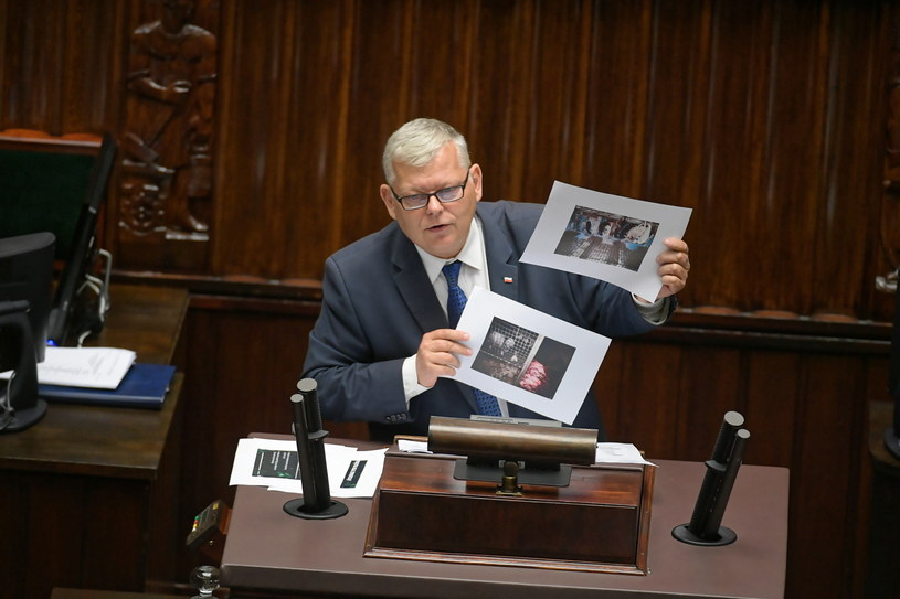Poseł PiS Marek Suski na sali obrad / Marcin Obara  /PAP