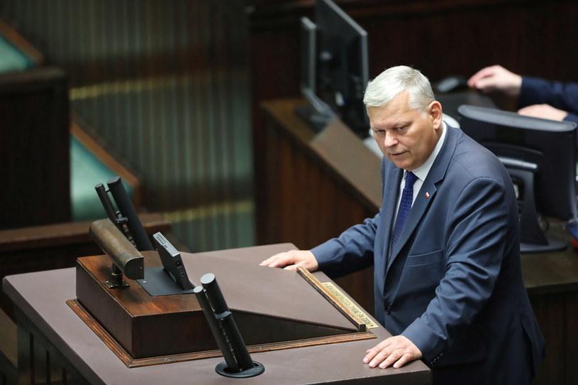Poseł PiS Marek Suski na sali obrad /Wojciech Olkuśnik /PAP