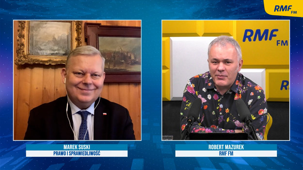 Poseł PiS Marek Suski w rozmowie z Robertem Mazurkiem /Piotr Szydłowski /RMF FM