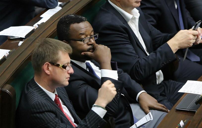 Poseł PO John Godson podczas posiedzenia Sejmu/fot. Paweł Supernak /PAP