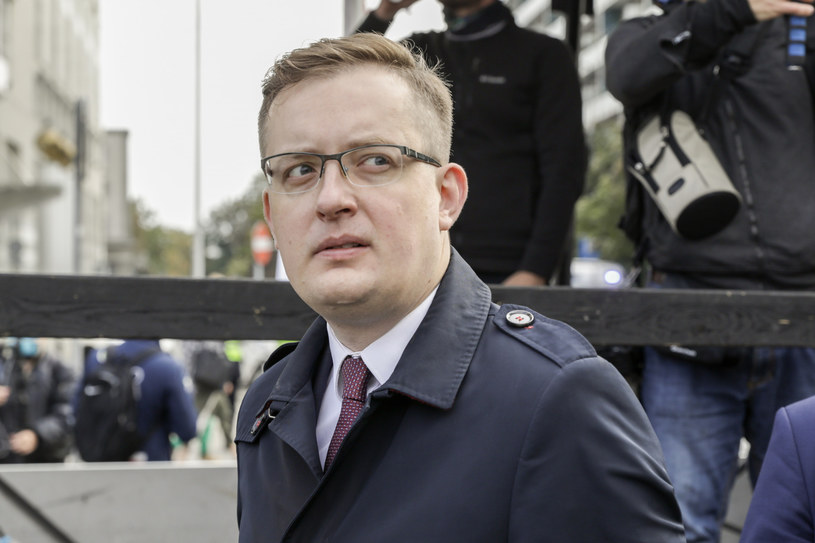 Poseł Robert Winnicki /Grzegorz Banaszek /Reporter
