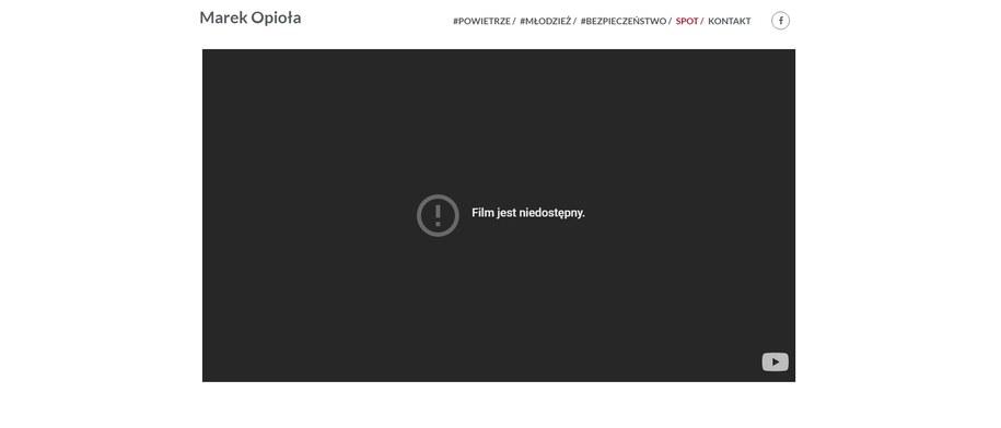 Poseł usunął już kontrowersyjny film /Zrzut ekranu