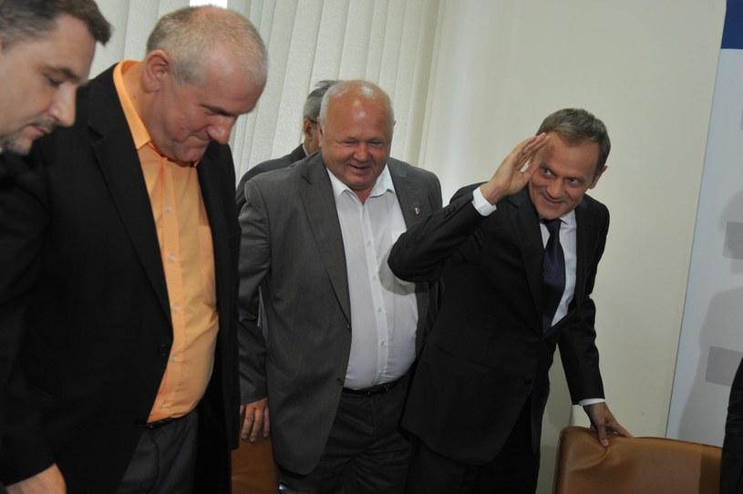Posiedzenie Komisji Trojstronnej z udzialem premiera /Jacek Domiński /Reporter