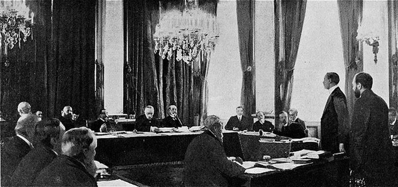 Posiedzenie międzynarodowej komisji, badającej incydent pod Dogger Bank /domena publiczna