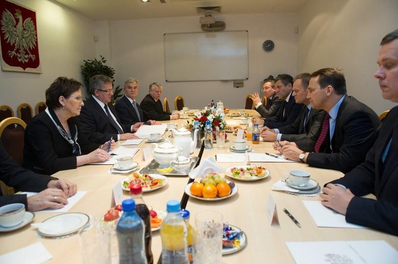 Posiedzenie Rady Bezpieczenstwa Narodowego poświęcone kryzysowi ukraińskiemu /Jacek Domiński /Reporter