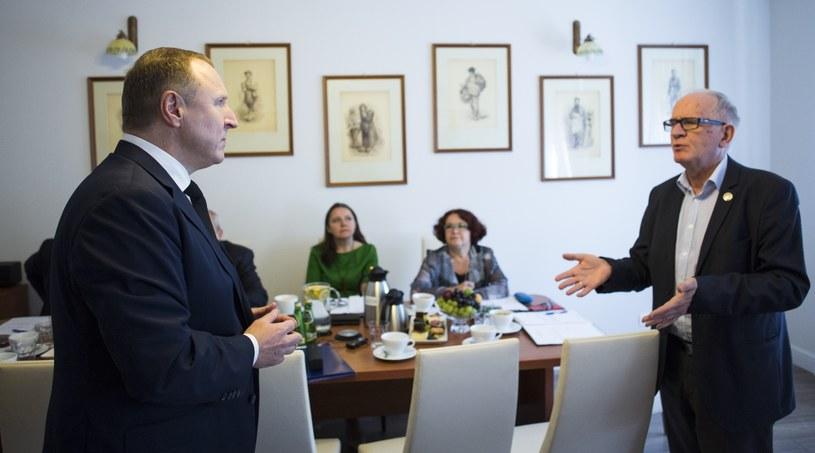 Posiedzenie Rady Mediów Narodowych w sprawie kulisów zwolnienia Marzeny Paczuskiej /Andrzej Hulimka  /Reporter