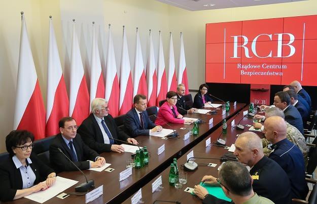 Posiedzenie Rządowego Zespołu Zarządzania Kryzysowego, fot. Paweł Supernak /PAP