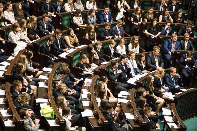 Posiedzenie Sejmu Dzieci i Młodzieży w 2015 r.; Zdj. ilustracyjne /Maciej Luczniewski /Reporter