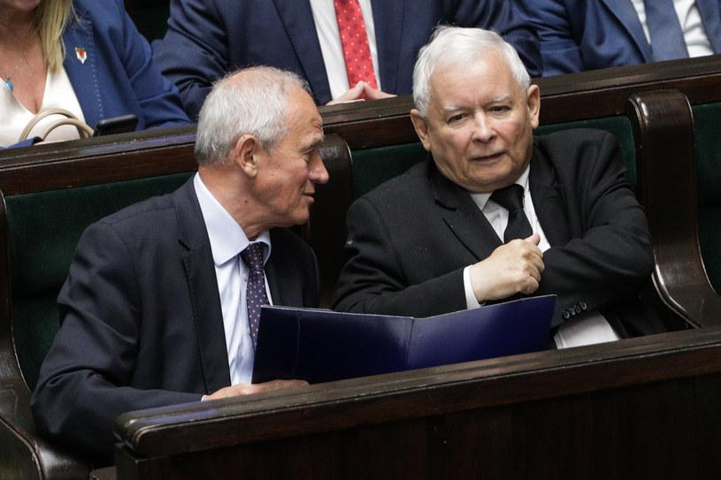 Posiedzenie Sejmu IX kadencji. Krzysztof Tchórzewski, Jarosław Kaczyński /Andrzej Hulimka  /Agencja FORUM