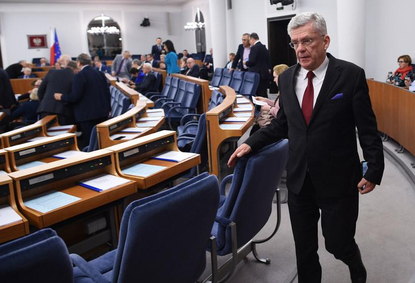 Posiedzenie Senatu, na zdjęciu Stanisław Karczewski /Adam Chelstowski /Agencja FORUM