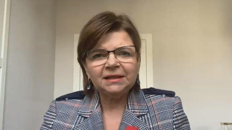 Posłanka Izabela Leszczyna z Platformy Obywatelskiej /Polsat News
