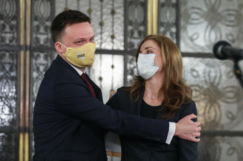 Posłanka Joanna Mucha dołącza do Polski 2050 Szymona Hołowni /Andrzej Iwańczuk /Reporter