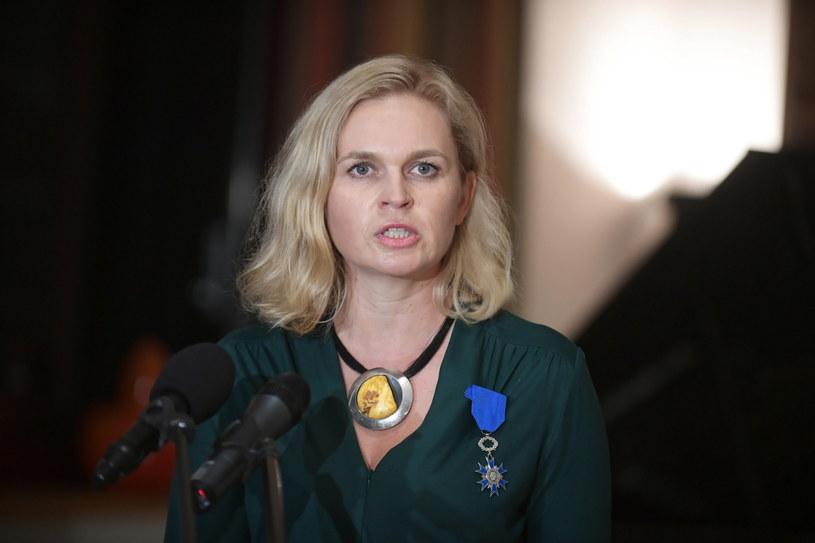Posłanka KO Barbara Nowacka podczas uroczystości w Rezydencji Ambasadora Francji w Warszawie / Marcin Obara  /PAP