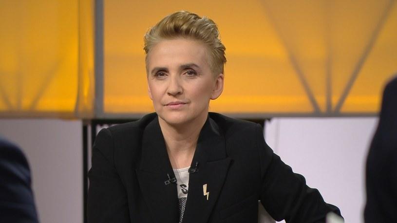 """Posłanka Nowej Lewicy Joanna Scheuring-Wielgus. /""""Śniadanie Rymanowskiego w Polsat News i Interii"""" /Polsat News"""