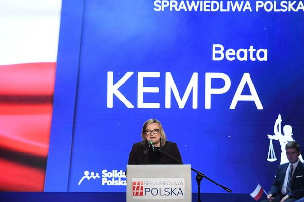 Posłanka Parlamentu Europejskiego Beata Kempa / Radek Pietruszka   /PAP