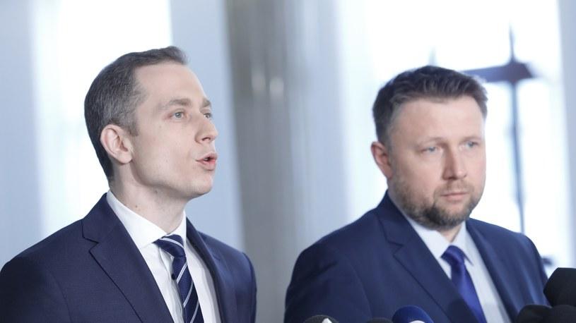 Posłowie Cezary Tomczyk i Marcin Kierwiński /Grzegorz Banaszak /Reporter