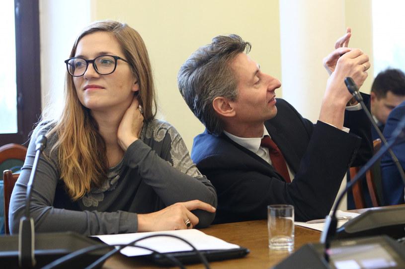 Posłowie Lewicy Magdalena Biejat i Maciej Gdula /Tomasz Jastrzębowski /Reporter