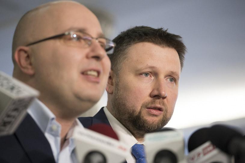 Posłowie Marcin Kierwiński i Robert Kropiwnicki /Maciej Luczniewski /Reporter