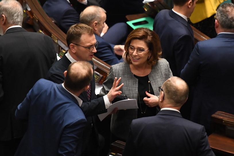 Posłowie opozycji w Sejmie /Piotr Nowak /PAP