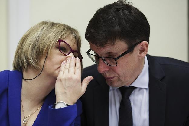 Posłowie PiS Barbara Bartuś i Marek Ast. Fot. Andrzej Hulimk /Reporter