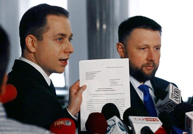 Posłowie Platformy Obywatelskiej Marcin Kierwiński i Cezary Tomczyk /Tomasz Gzell /PAP