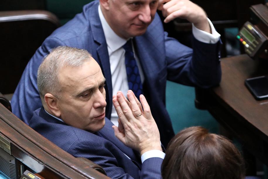 Posłowie PO: Grzegorz Schetyna i Sławomir Neumann /Leszek Szymański /PAP