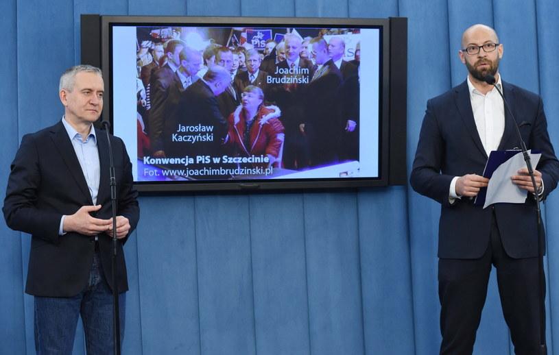 Posłowie PO Robert Tyszkiewicz i Jakub Rudnicki /Radek Piertruszka /PAP