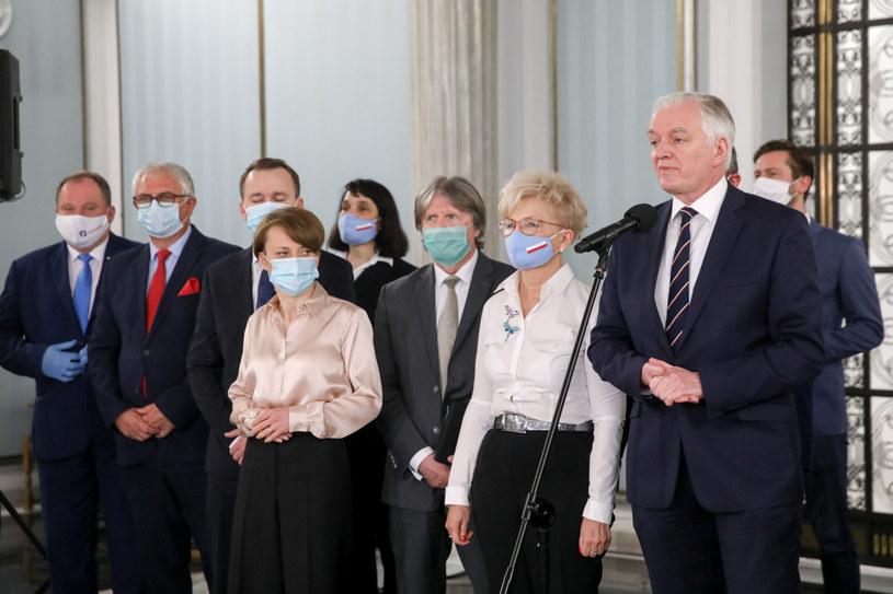 Posłowie Porozumienia /fot. Andrzej Iwanczuk /Reporter