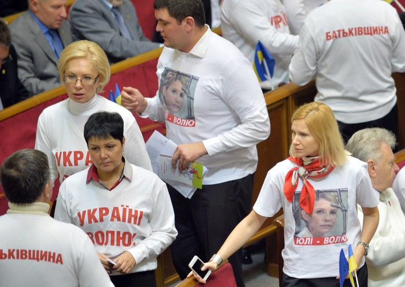 Posłowie ukraińskiej opozycji /AFP