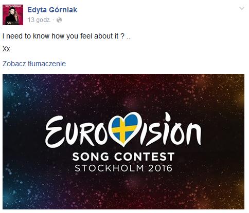 Post Edyty Górniak /Facebook /