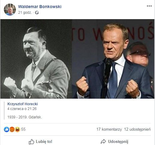Post udostępniony na Facebooku przez senatora Bonkowskiego /facebook.com