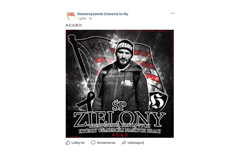 Post został już zdjęty ze strony Stowarzyszenia Cracovia to My /Twitter