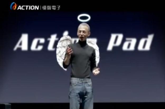 Postać jak Steve Jobs zachwala tablet z Androidem /Internet