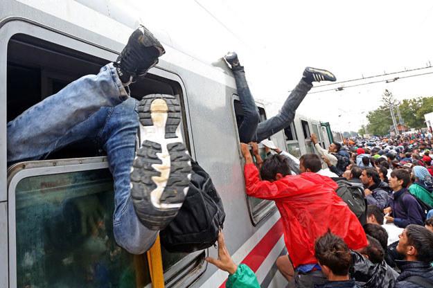 Postawę Polski w sprawie uchodźców pochwalił minister spraw wewnętrznych Niemiec Thomas de Maiziere /AFP
