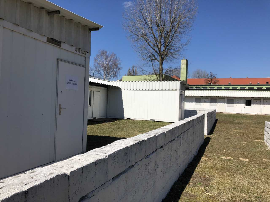 Posterunek obserwacyjny na terenie Centrum w Kielcach, którzy przypomina punkt działający w ramach misji ONZ w Syrii /Michał Dobrołowicz /RMF FM