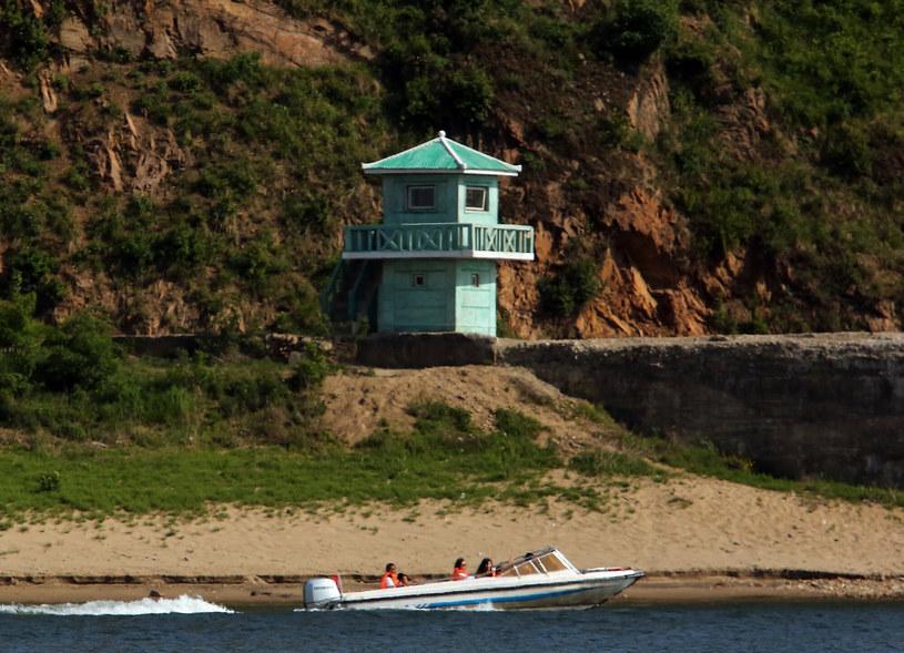 Posterunek służb Korei Północnej na rzece Yalu /Stephen Shaver /East News