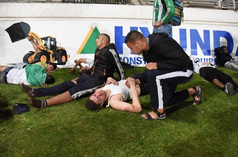 Poszkodowani kibice po meczu w Casablance /AFP
