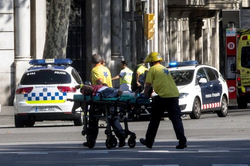 Poszkodowani w zamachu w Barcelonie /QUIQUE GARCIA /PAP/EPA