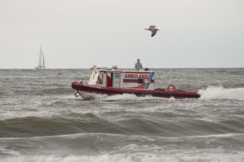 Poszukiwania 7-letniej dziewczynki na usteckiej plaży /Fot. Hubert Bierndgarski /Reporter