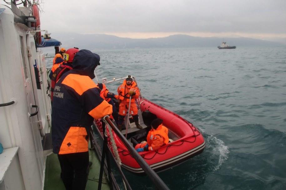 Poszukiwania ciał ofiar katastrofy /EPA/EMERGENCIES MINISTRY HANDOUT /PAP/EPA