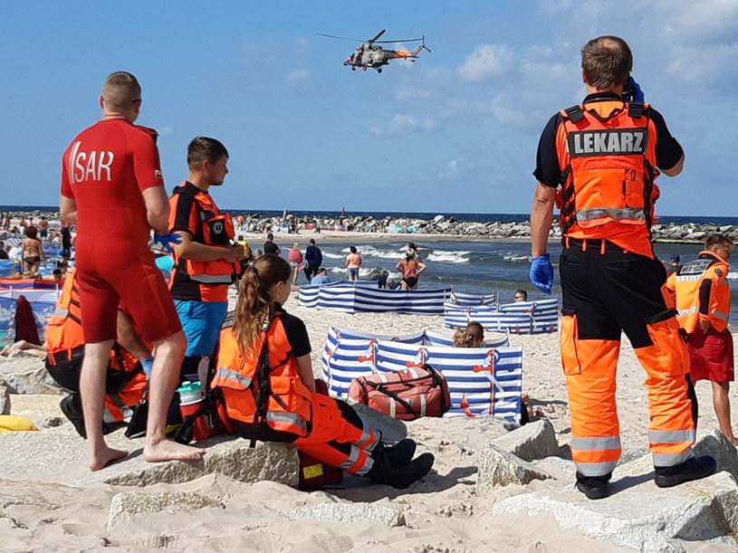 Poszukiwania mężczyzny w rejonie plaży w Jarosławcu /JAROSLAW JAKUBCZAK/ POLSKA PRESS /East News