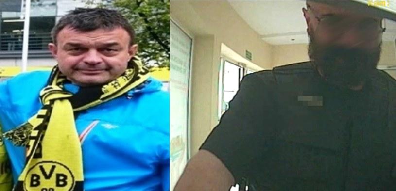 Poszukiwany Grzegorz Łuczak (po lewej) jest wspólnikiem zatrzymanego Krzysztofa W. /Policja