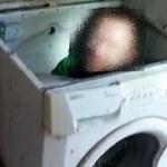 Poszukiwany listem gończym ukrywał sie... w pralce [ZDJĘCIA]